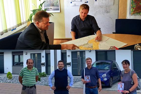 Hausbesuche im Neubaugebiet Erlensee und Gespräch mit Stefan Erb