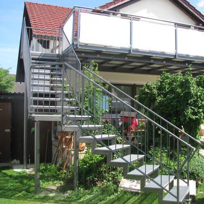 Treppen- und Balkonkonstruktion