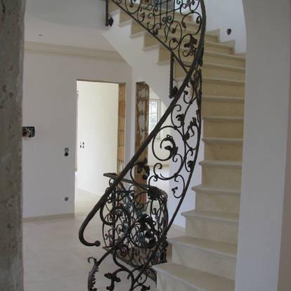 Treppengeländer in geschwungener Grundrissform