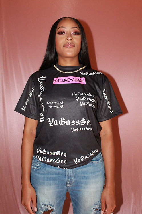 YaGass Sey LIMITED EDITION Black Printed  Tee