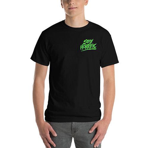 Stay Horrific green logo T-Shirt