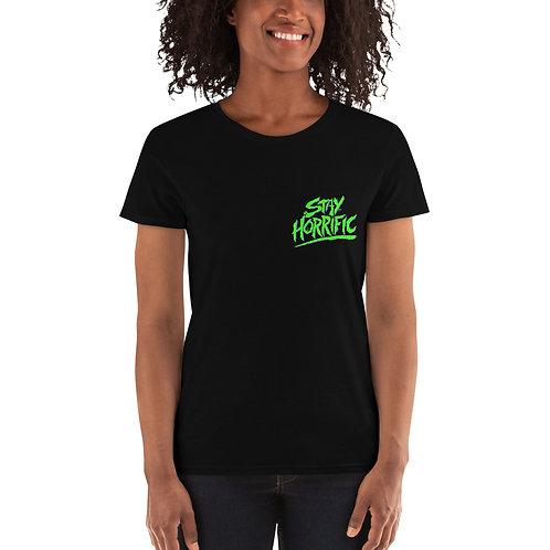 Stay Horrific green logo Women's T-Shirt