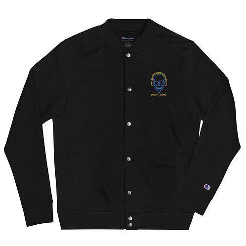 Night's End Embroidered Champion Bomber Jacket