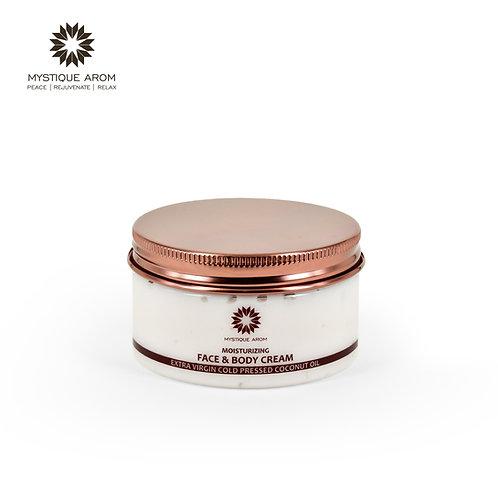 Moisturizing Face & Body Cream - Extra Virgin Coconut Oil - 100 gm