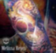 Galaxia pieza realizada por Melissa Reye