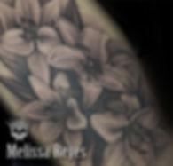 Flores Lilys realizadas por la artista M