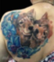 Tatuaje hecho por la artista @melissarey