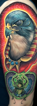 Eduardo Gallegos tatuador guadalajara mexico color realismo tatuaje