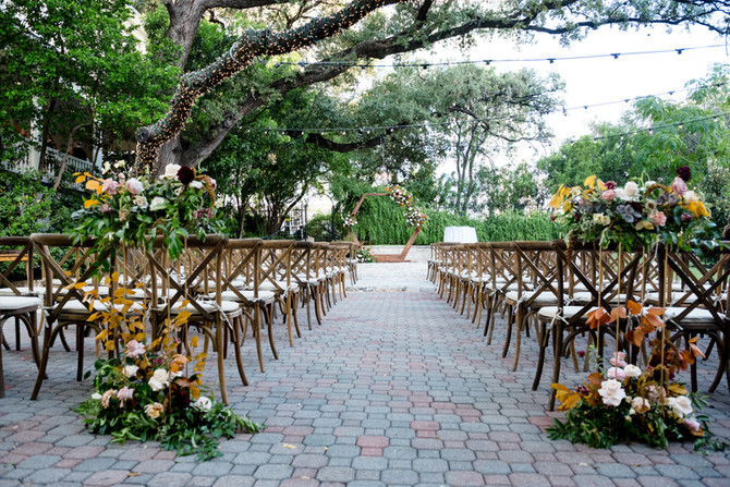 Fall Al Fresco Wedding at Allan House