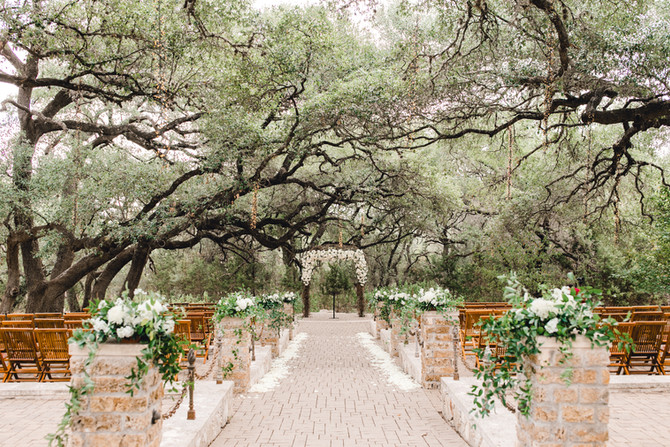 Romantic Emerald and Ivory Wedding at Camp Lucy's Sacred Oaks