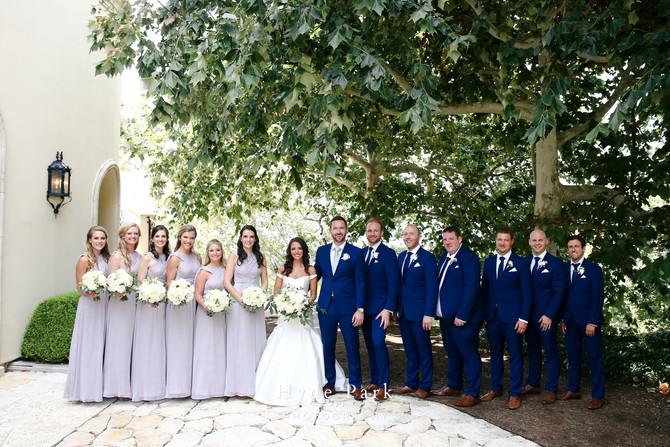Grey and Gold Lakeside Wedding at Villa Del Lago