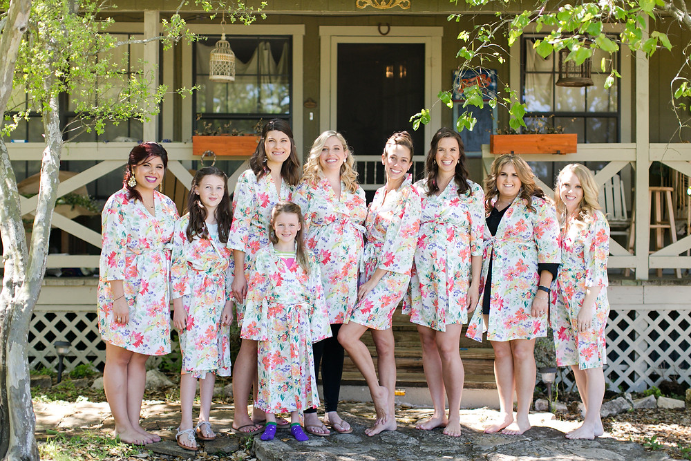 Eclipse Event Co, Mekina Saylor Photo, Floral Robe Wedding Party