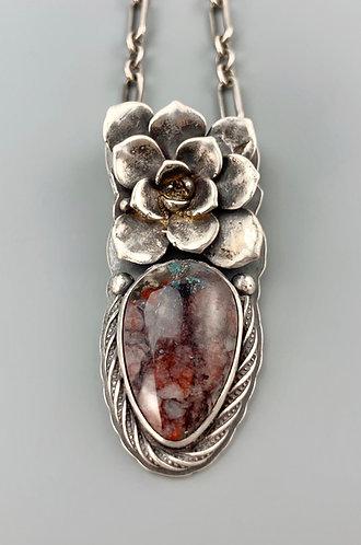 Apache Gemstone Succulent Necklace