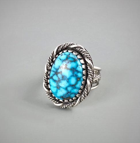 Birdseye Kingman Turquoise Sterling Silver Ring