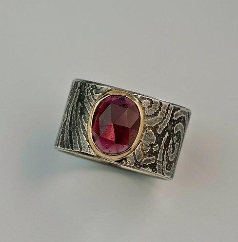 2nd Payment for Rhodolite Garnet 14k Gold and Sterling Custom Ring