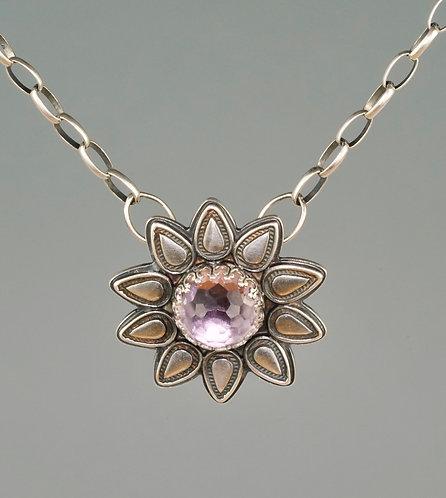 Lavender Amethyst Flower Necklace