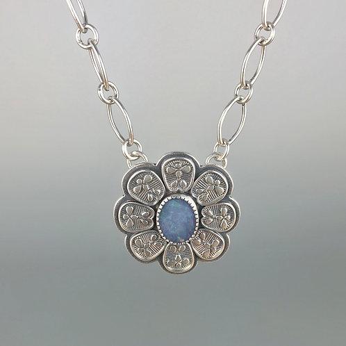 Blue Boulder Opal Mehndi Necklace