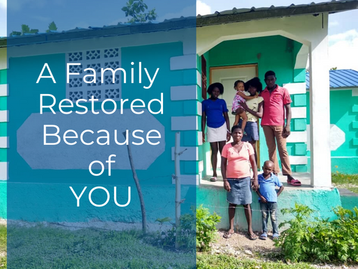 A Family Restored Because of YOU