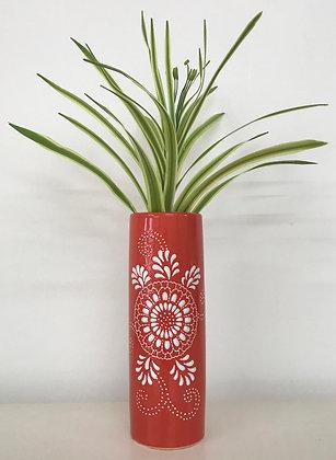 Orange & White Vase