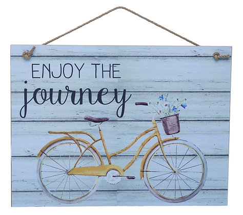 Enjoy The Journey Distressed Wall Art