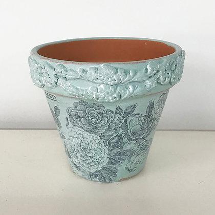 Floral Transfer Flower Pot