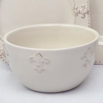 Fleur de Lis Ceramic Bowl