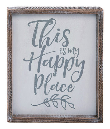 Encouraging Happy Place Word Wall Art