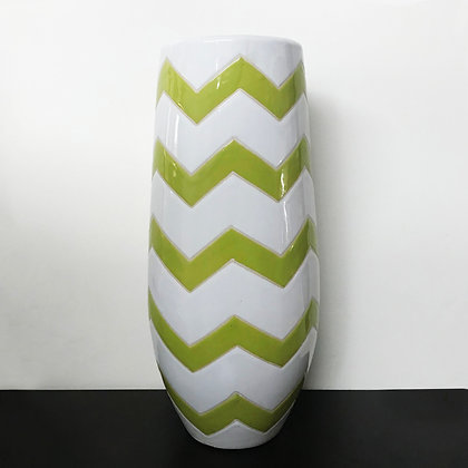 Chevron Striped Vase