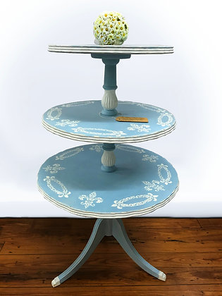 Blue Tiered Table
