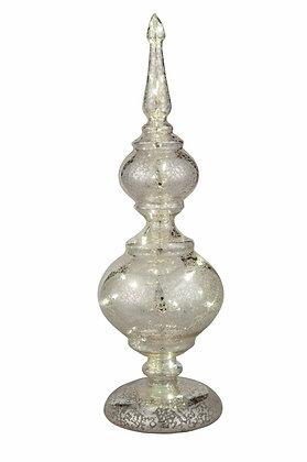 Small Mercury Glass Light Up Decor
