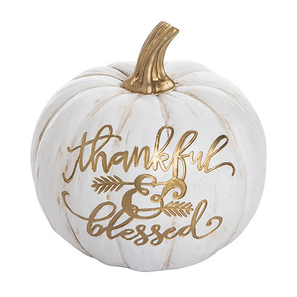 Resin Thankful & Blessed Pumpkin