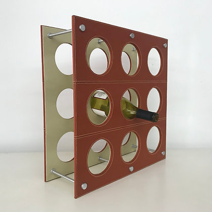 Faux Leather Wine Rack