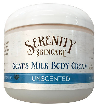Serenity Skincare Goat's Milk Body Cream - Unscented