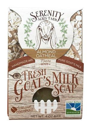 Serenity Acres Farm Goat's Milk Soap - Almond Oatmeal