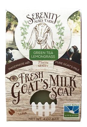 Serenity Acres Farm Goat's Milk Soap - Green Tea Lemongrass