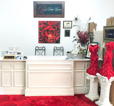 Red Letter Gems home decor store front desk, Tifton Georgia