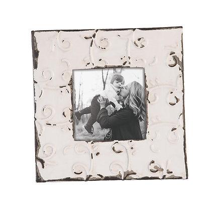 """5"""" x 5"""" Tin Tile Wall Photo Frame"""