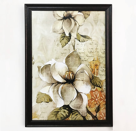 Framed Magnolia Artwork