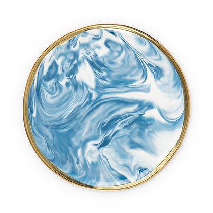 Seaside: Marbled Ceramic Plate by Twine (Crafted from ceramic)