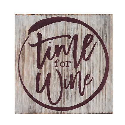 Time For Wine Decorative Plaque