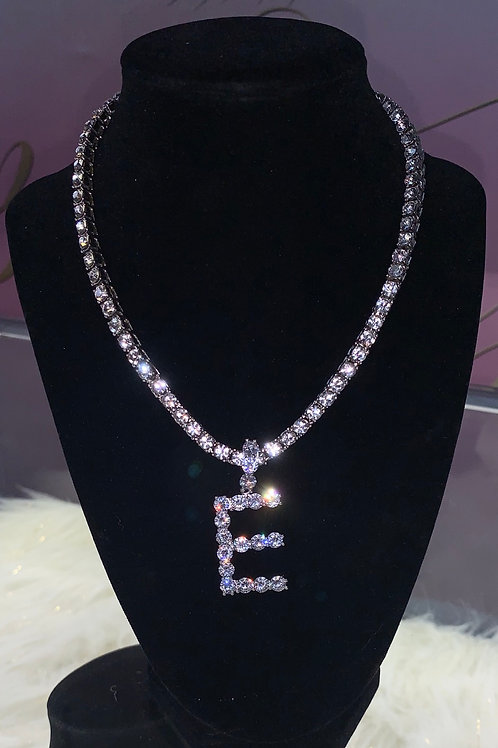 Silver iced out letter (1chain)(sale)(preorder)