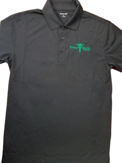 EMS Black Polo Shirt