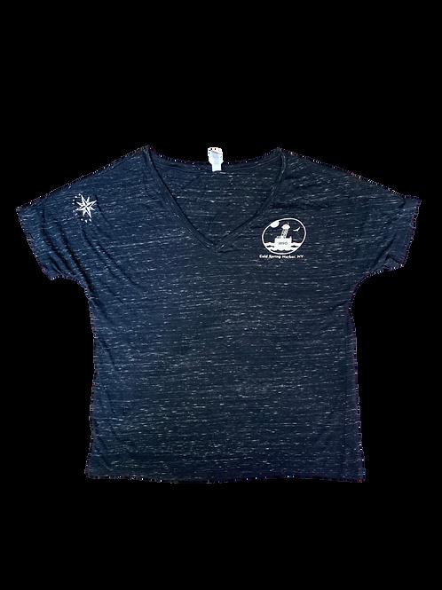 EAST OF EGG™ Shirt – Cold Spring Harbor Womens Beach Shirt – Black Burnout