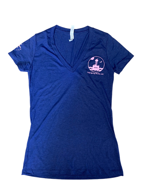EAST OF EGG™ PINK Cold Spring Harbor Womens Shirt - Navy
