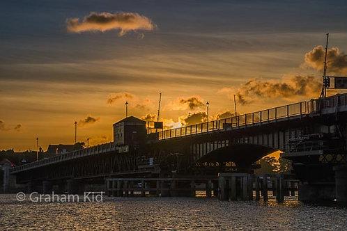 Sunset Walney Bridge