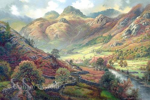 The Cumbrian Way through Langdale