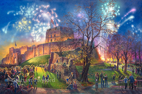Fireworks at the Castle, Carlisle