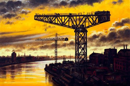 The Last Crane Sunset