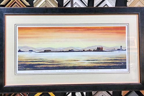Rampside, Piel Island & Walney Lighthouse From Walney by John Duffin