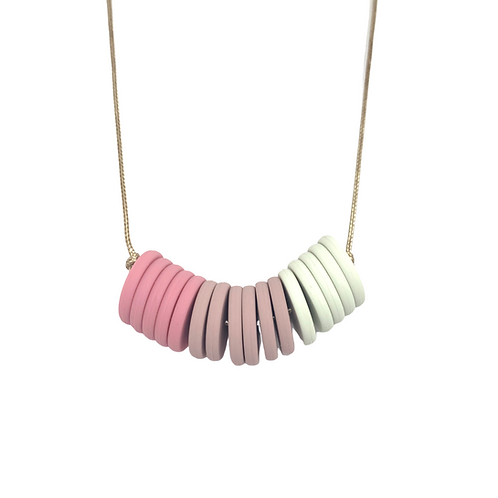 CASINO Teething Necklace Rose Pink
